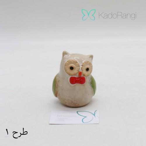 خرید اینترنتی هدیه مجسمه جغد کوچک سرامیکی