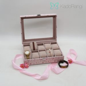 جعبه ساعت و جواهرات بزرگ