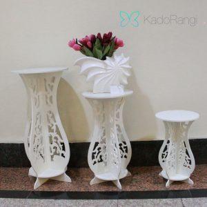 پایه گلدان PVC طرح دار