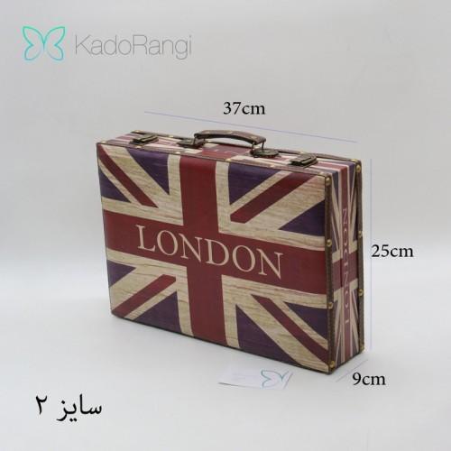 چمدان چوبی طرح لندن