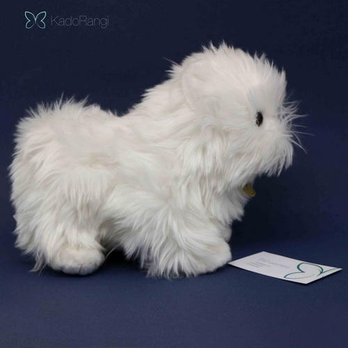 عروسک سگ پشمالو سفید