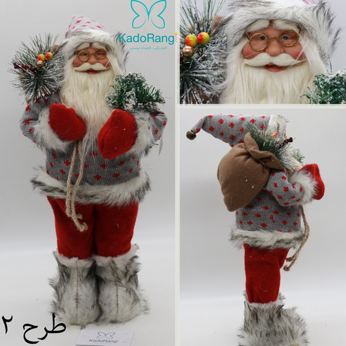 بابانوئل 47 سانتی کریسمس با کوله هدایا