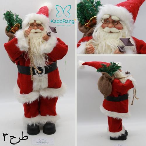 بابانوئل 47 سانتی کریسمس با لوازم کامل