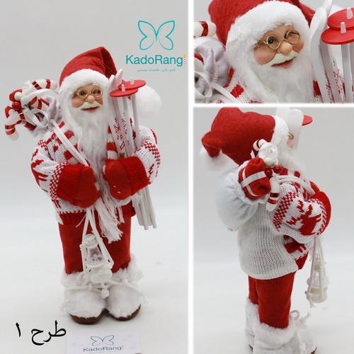 بابانوئل 30 سانتی کریسمس با لباس کامل