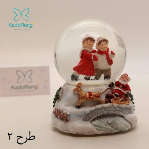 گوی برفی کریسمس کوکی با مجسمه های کوچک