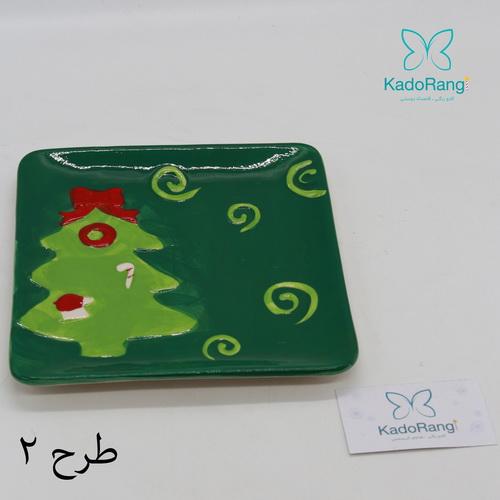بشقاب سفالی درخت کریسمس