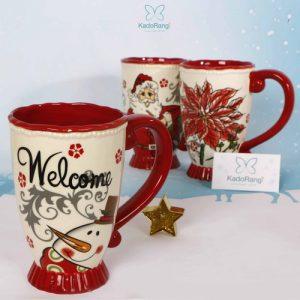 لیوان دسته قرمز کریسمس