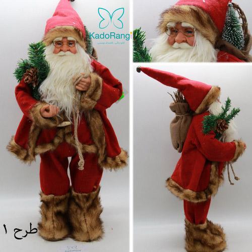 عروسک بابانوئل پلاستیکی 60 سانت مخصوص دکور کریسمس