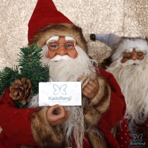 عروسک بابانوئل پلاستیکی 60 سانت برای خوشامدگویی