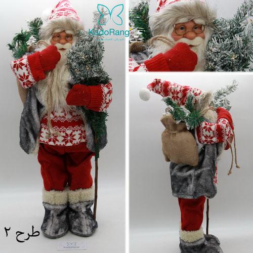 ماکت بابانوئل 60 سانتی با لباس قرمز