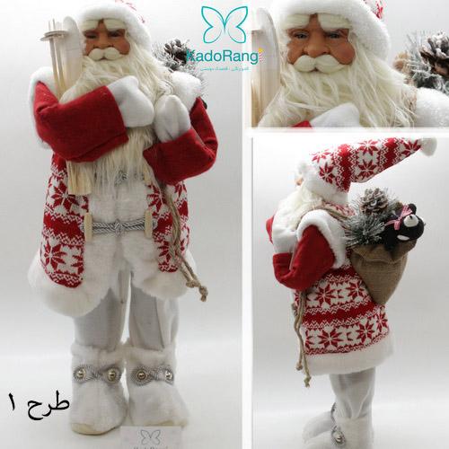 عروسک بابانوئل متوسط با لباس بافتنی