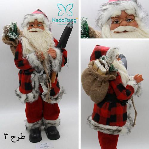 عروسک بابانوئل متوسط با کوله