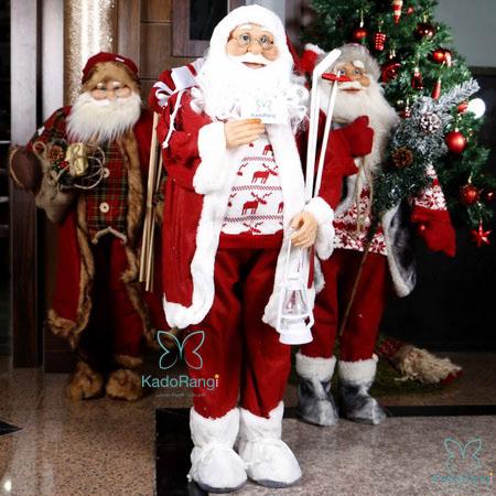 عروسک بابانوئل با ارتفاع 90 سانت