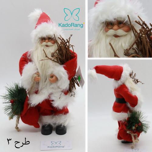 فروش اینترنتی عروسک بابانوئل 30 سانت پلاستیکی
