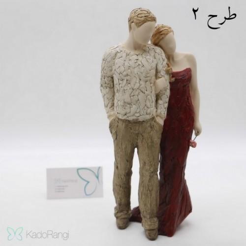 مجسمه زوج ولنتاین با بسته بندی شیک