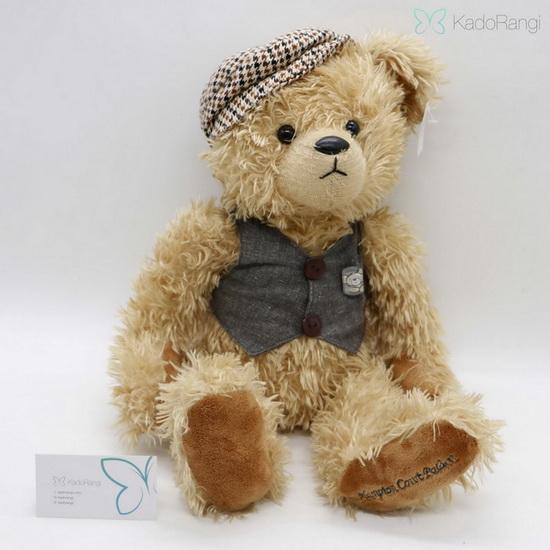 خرس ولنتاین با جلیقه و کلاه