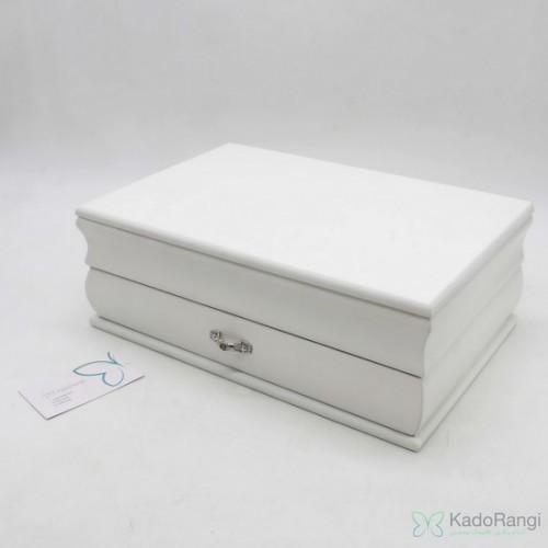 فروش جعبه جواهر چوبی سفید