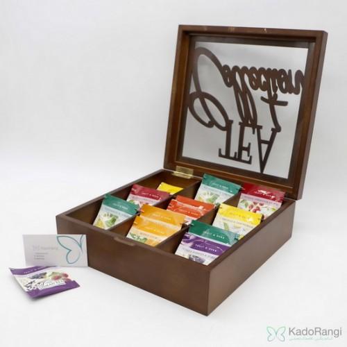 جعبه چوبی چای تی بگ