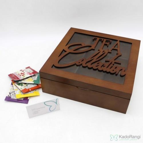 جعبه چوبی دمنوش و تی بگ