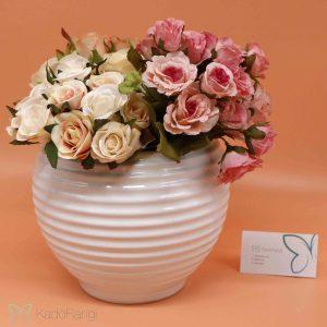 خرید گلدان سرامیکی سفید